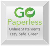 Go Paperless Silver Button